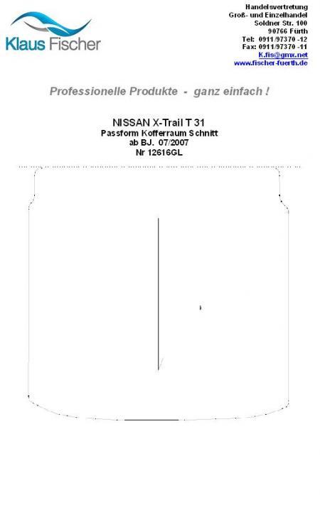 klaus fischer autozubeh r nissan x trail t31 kofferraum. Black Bedroom Furniture Sets. Home Design Ideas